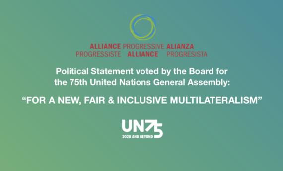 Statement by the Progressive Alliance